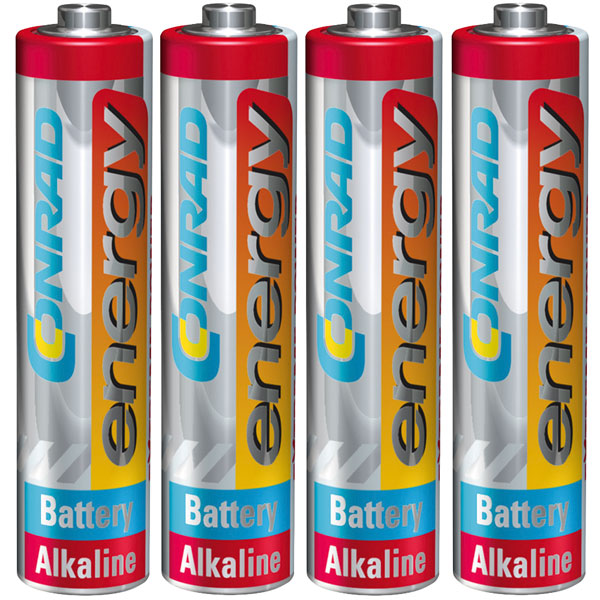 Image of Conrad Energy 658022 Extreme Power Alkaline AAA Battery x4