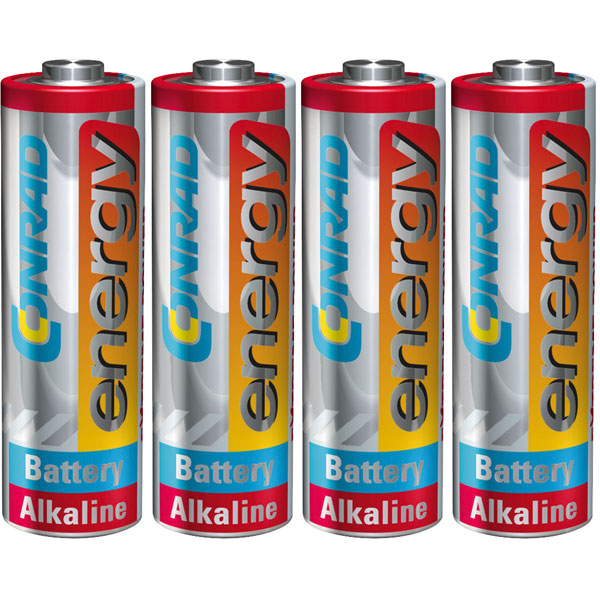 Image of Conrad Energy 658023 Extreme Power Alkaline AA Battery x4