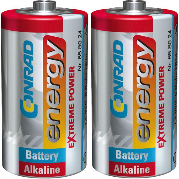Image of Conrad Energy 658024 Extreme Power Alkaline C Battery x2