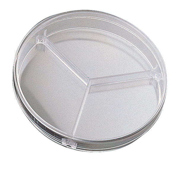 Image of Medline 90mm Triple Compartment Petri Dishes - Pack of 20