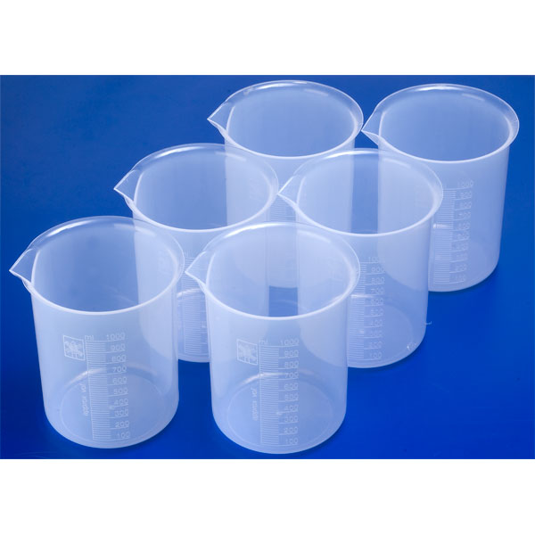 Image of Rapid Plastic Science Measuring Beakers 1 Litre (Pack of 6)