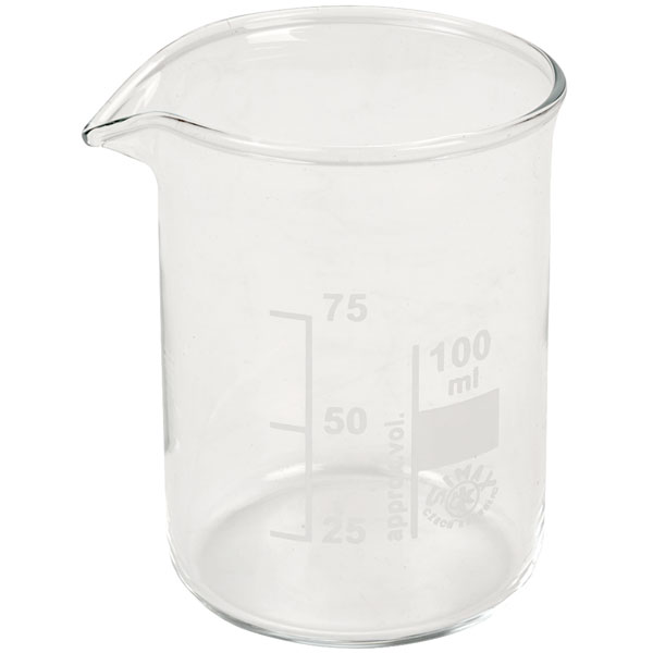 Image of Simax Low Form Beakers 100ml Pack 10