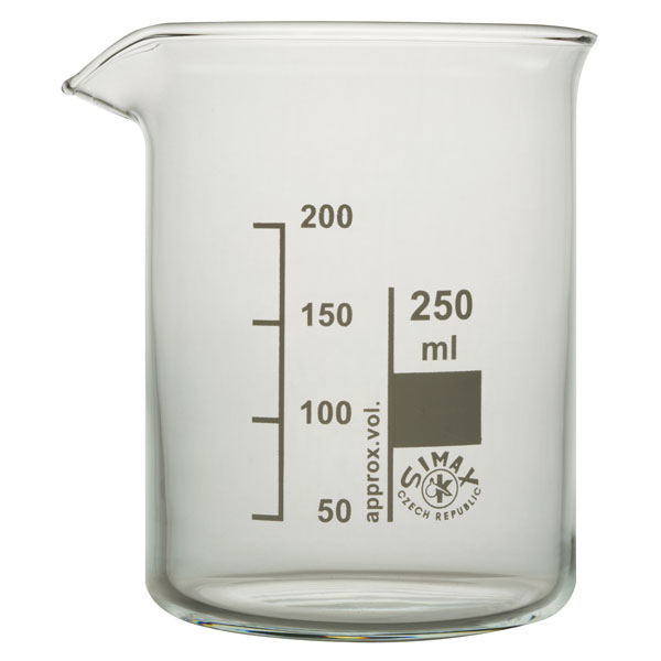 Image of Simax Low Form Beakers 250ml Pack 10