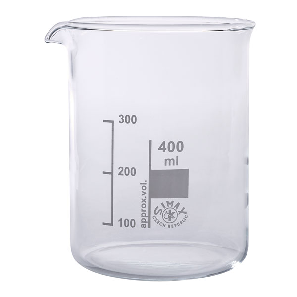 Image of Simax Low Form Beakers 400ml Pack 10