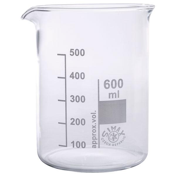 Image of Simax Low Form Beakers 600ml Pack 10