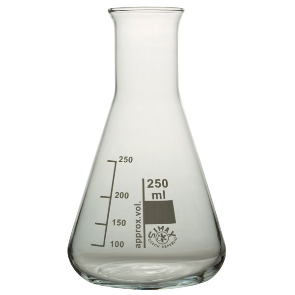 Image of Simax Conical Flask Narrow Neck 250ml Pack 10