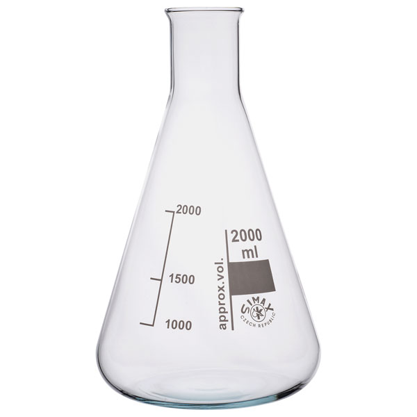 Image of Simax Conical Flask Narrow Neck 2000ml Pack of 6