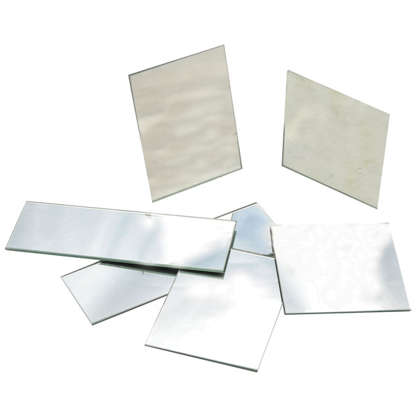 Image of Eisco PH0514A - Plane Glass Mirrors - Unmounted 75 x 25mm - Pack of 10