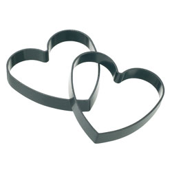 Kitchen Craft KCEGGHEART Set of 2 Non-Stick Heart Shaped Egg Rings