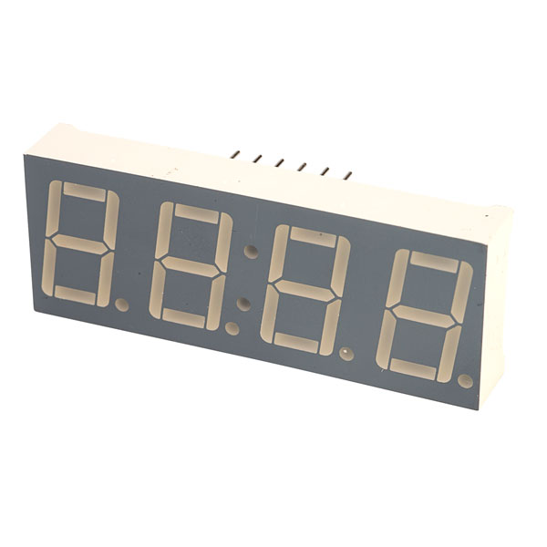 Image of Kingbright CC56-21SRWA 4 Digit Red LED Display Clock