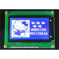 Winstar WG12864A-TMI-VN Graphic Display Negative Blue Mode 128 x 64 White LED