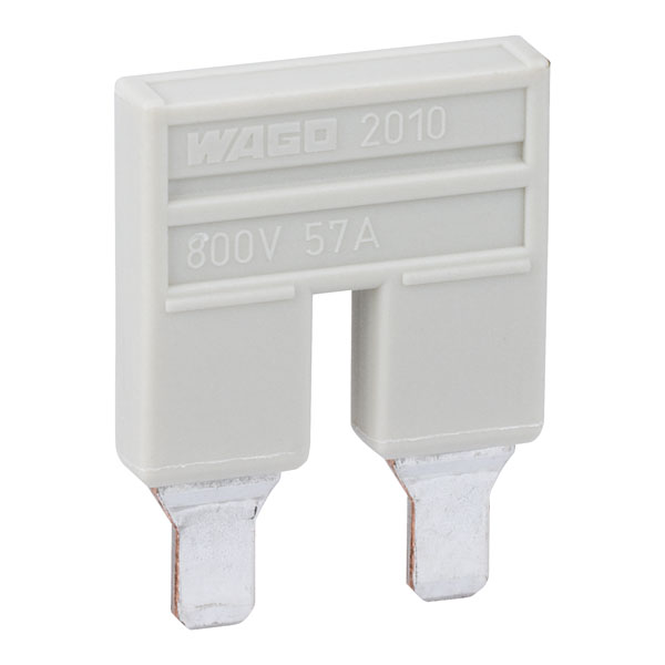 WAGO 2010-402 2 Way 57A Insulated Push-in Jumper Bar for 2010 Seri...