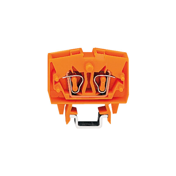 WAGO 264-706 2 Conductor Through Mini Terminal Block Orange