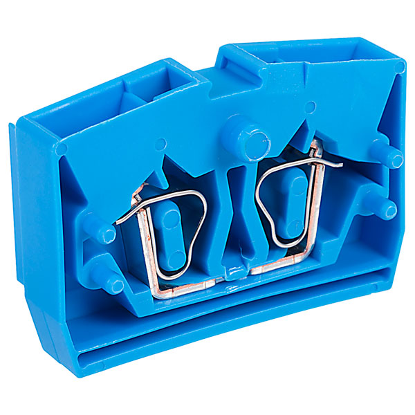 WAGO 264-304 2 Conductor Fixing Flanges End Terminal Block Blue