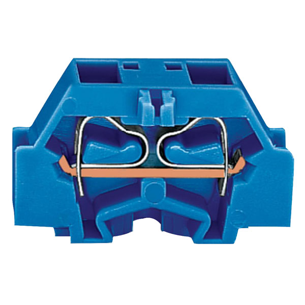 WAGO 261-334 4 Conductor Fixing Flanges Terminal Block Blue