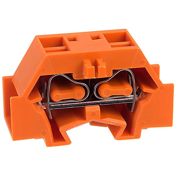 WAGO 261-336 4 Conductor Fixing Flanges Terminal Block Orange