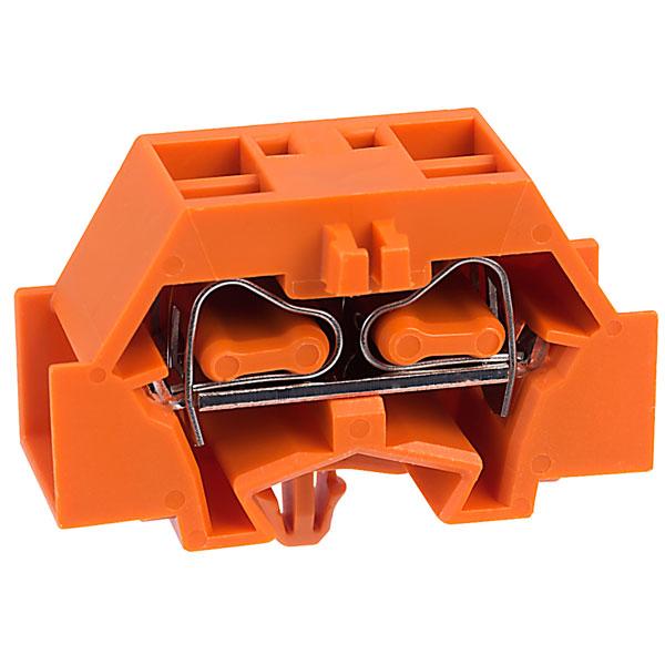 WAGO 261-346 4 Conductor Snap In Terminal Block Orange