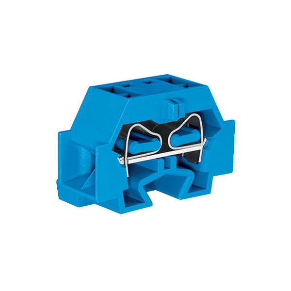 WAGO 262-334 4 Conductor Fixing Flanges Terminal Block Blue