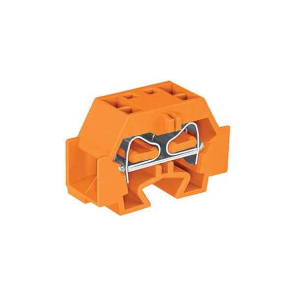 WAGO 262-336 4 Conductor Fixing Flanges Terminal Block Orange