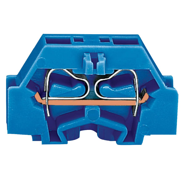 WAGO 261-304 2 Conductor Fixing Flanges Terminal Block Blue
