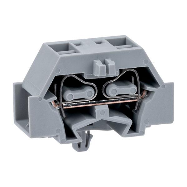 WAGO 261-341 4 Conductor Snap In Terminal Block Grey