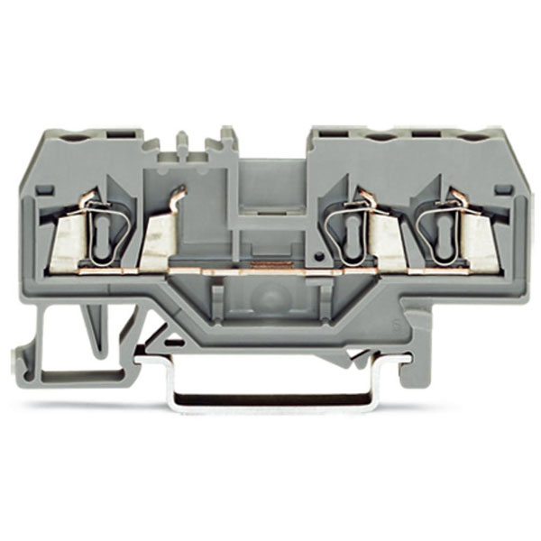 WAGO 280-681 5mm 3-conductor Through Terminal Block Grey