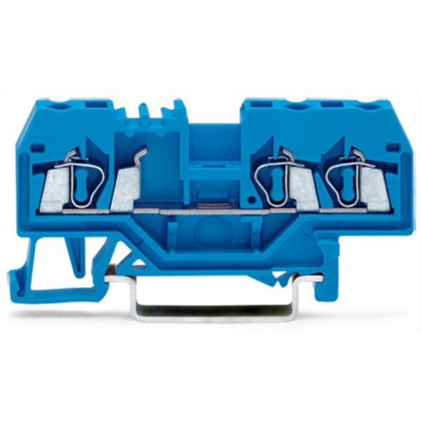 WAGO 280-684 5mm 3-conductor Through Terminal Block Blue