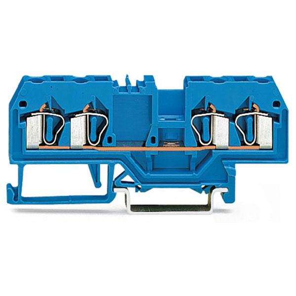 WAGO 280-834 5mm 4-cond. Through Terminal Block ATEX Ex I Blue