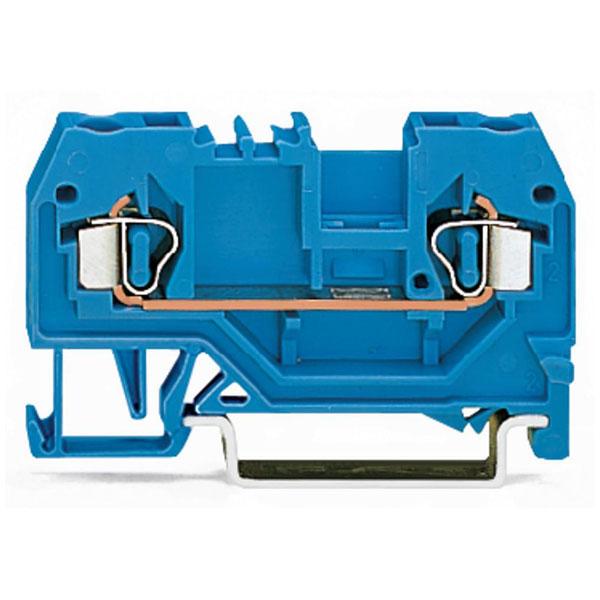 WAGO 280-904 5mm 2-cond. Through Trm. Block ATEX Ex I Blue