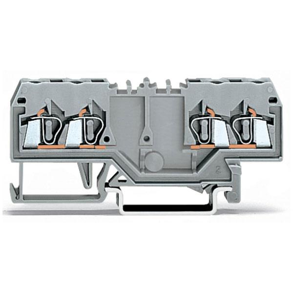 WAGO 280-826 5mm 4-conductor Terminal Block Grey