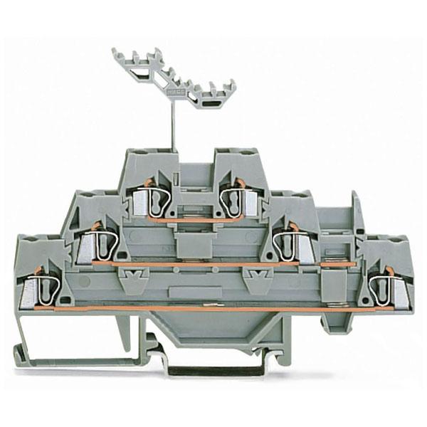 WAGO 280-549 5mm Triple Deck Terminal Block Grey