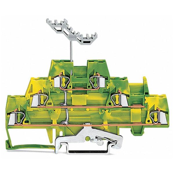 WAGO 280-597 5mm Triple Deck Terminal Block Green-yellow