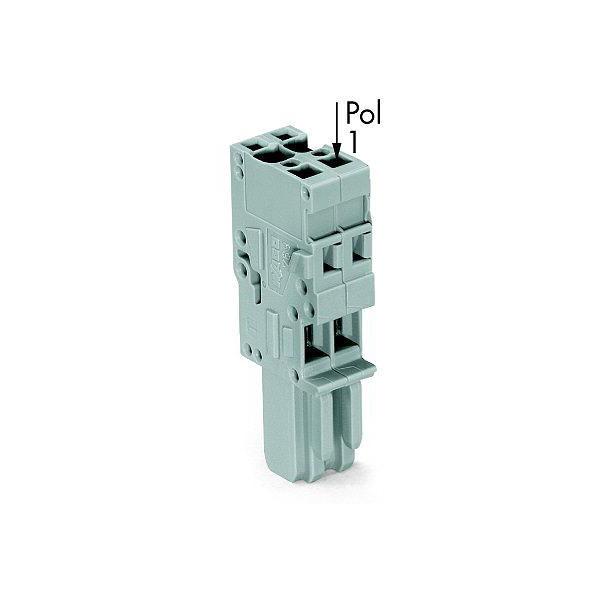 WAGO 769-104 1-conductor Female Plug Codable Straight 4-pole Grey