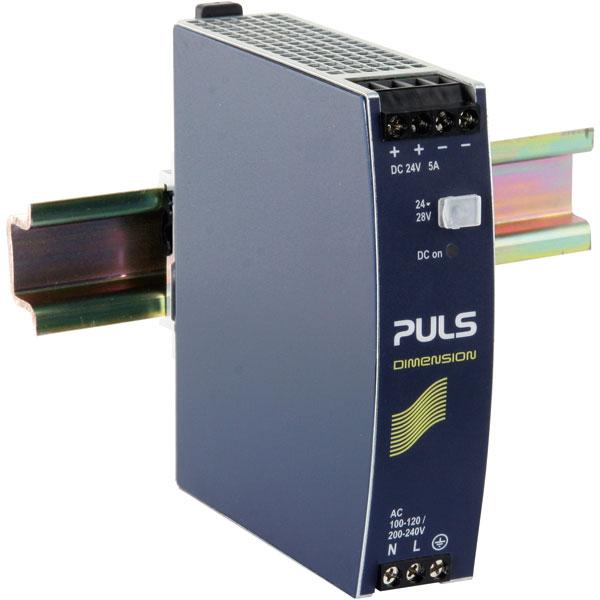 PULS CS5.241 Dimension DIN Rail Power Supply 115/230V AC 24V DC 5A...