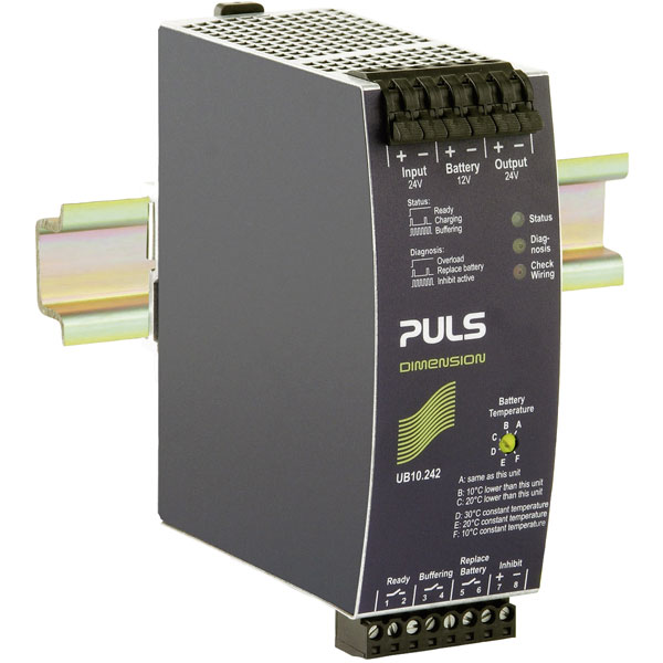 PULS UB10.242 DC USP Control Unit with Battery for 17-130 Ah 24V D...