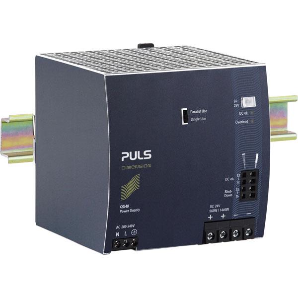 PULS QS40.244 Dimension DIN Rail Power Supply 24V DC 40A 960W 1-Ph...