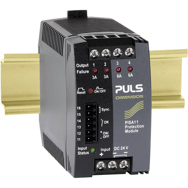 PULS PISA11.203206 Dimension 4-Output DIN Rail Protection Module 2...
