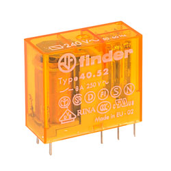 Finder 40.52.8.240.0000 240V Relay (Miniature) DPDT AC 8A