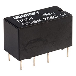 Good Sky GS-SH-205D 5V GS-D Series 1A DPDT Relay