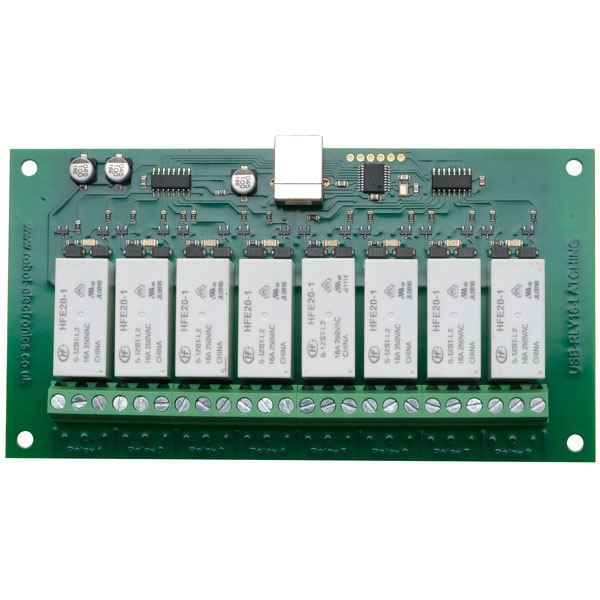 Devantech USB-RLY16L 8 Channel 16A Latching Relay Board Controlled Via USB