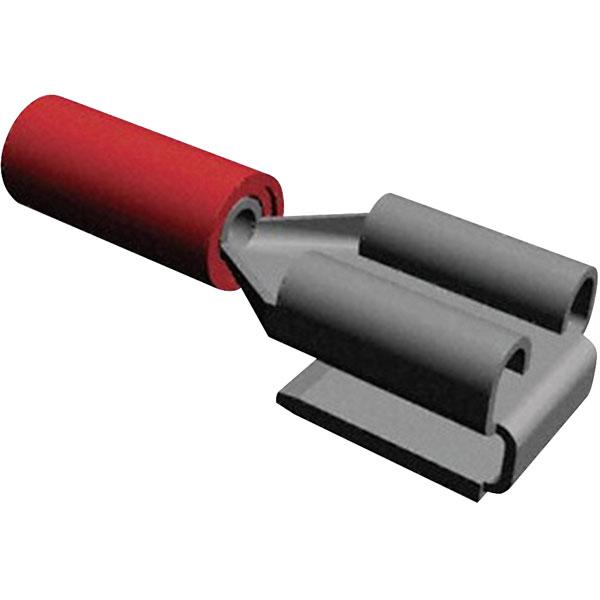 TE 160834-5 250 Crimp Receptacle PIDG Piggyback 22-16AWG Red