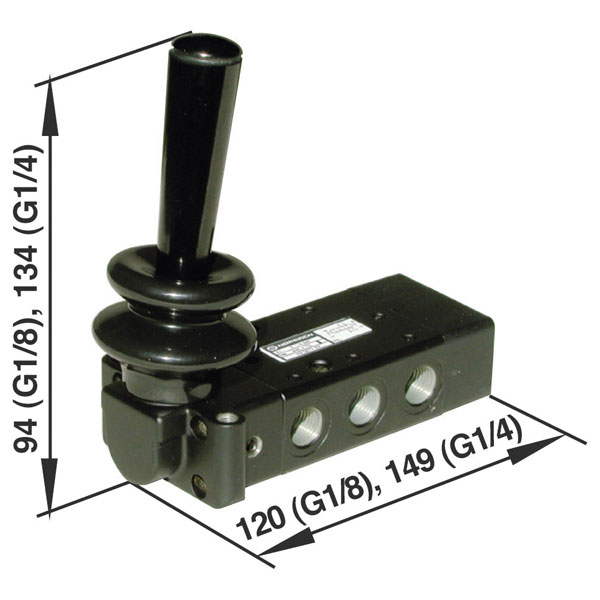 Image of Norgren X3363702 5/3 Lever/Lever/Lever Actuated Inline Spool Valve...