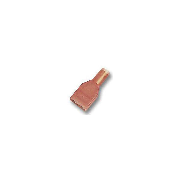 TE 2-520103-2 250 Crimp Tab Ultra-Fast Insulated Tin 22-18AWG Red