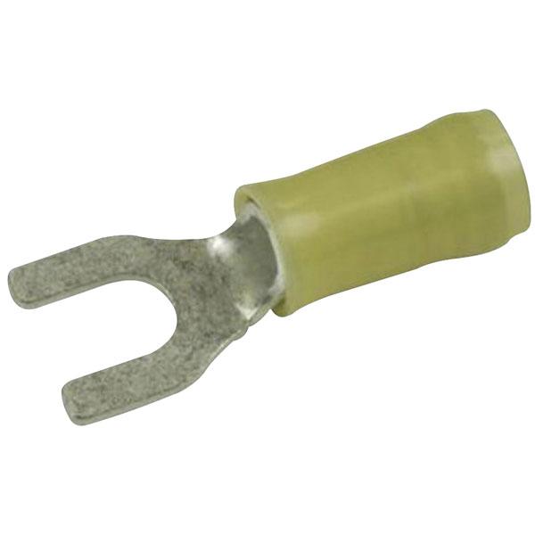 TE 326865 PIDG Terminal Spade Flanged M5 Stud Tin 12-10AWG Yellow
