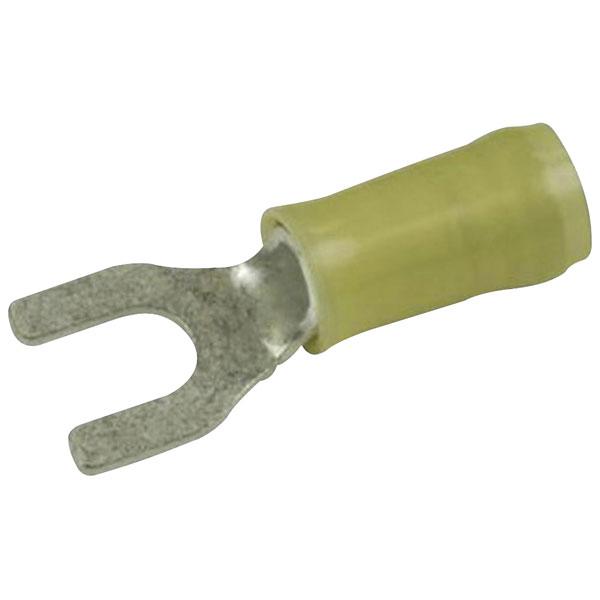 TE 130625 PIDG Terminal Spade M6 Stud Tin 12-10AWG Yellow