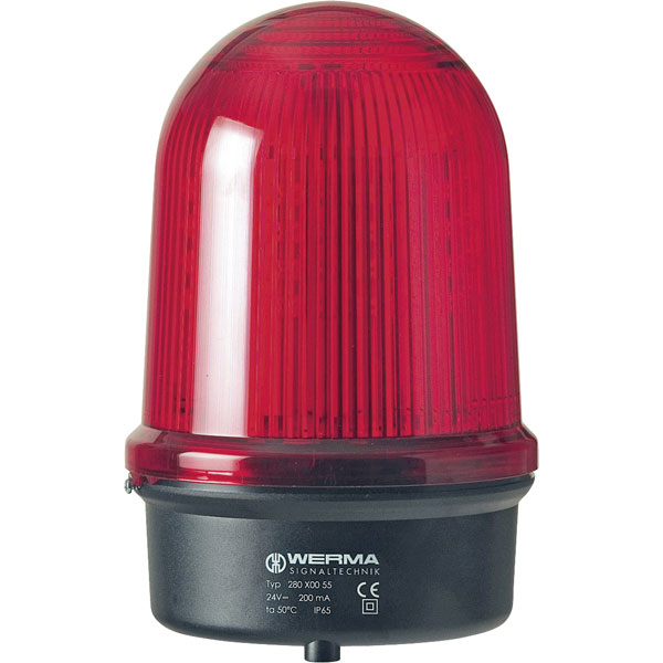 Werma Signaltechnik 280.150.60 LED Double Flash Beacon 115-230VAC Red