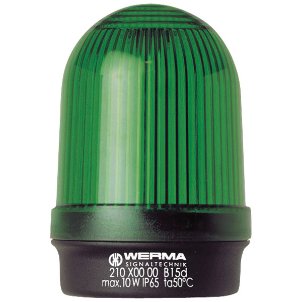 Werma Signaltechnik 210.200.00 Green 12-240VAC/DC Steady Light