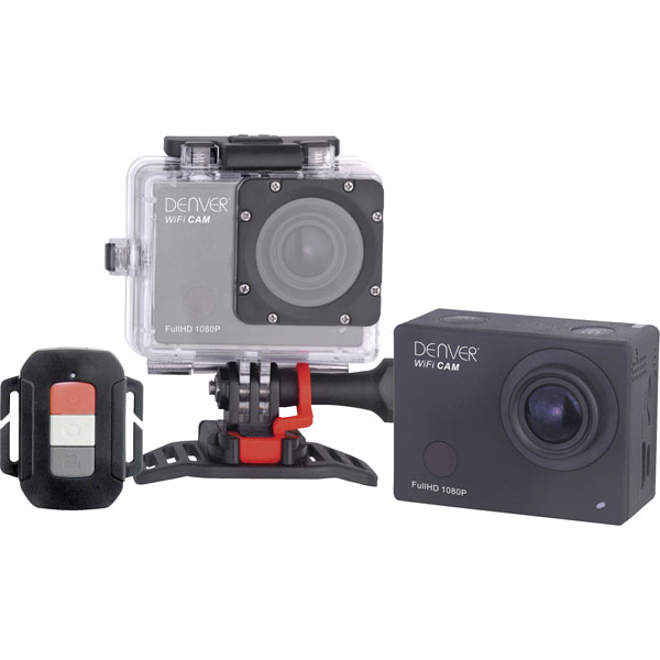 Image of Denver ACT-8030W Full HD Action Camera with WLAN and Internal Memory