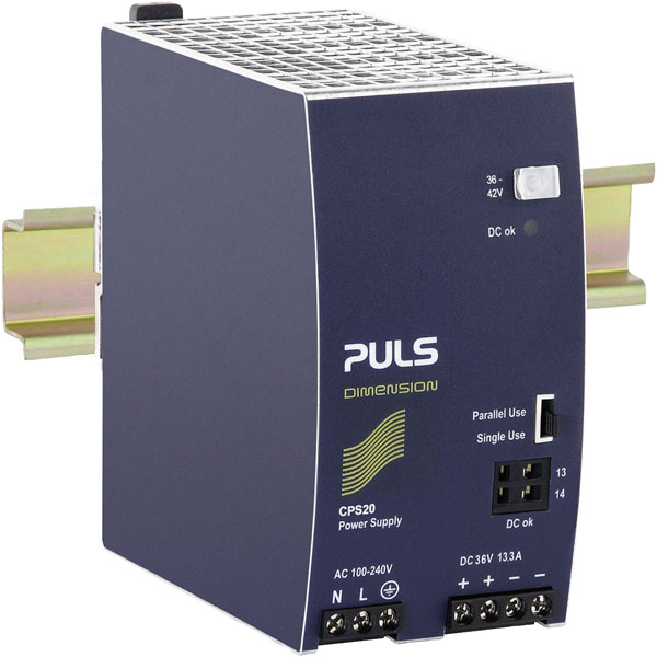 PULS CPS20.361 DIN Rail Power Supply Single Phase 36VDC 13.3A 450W