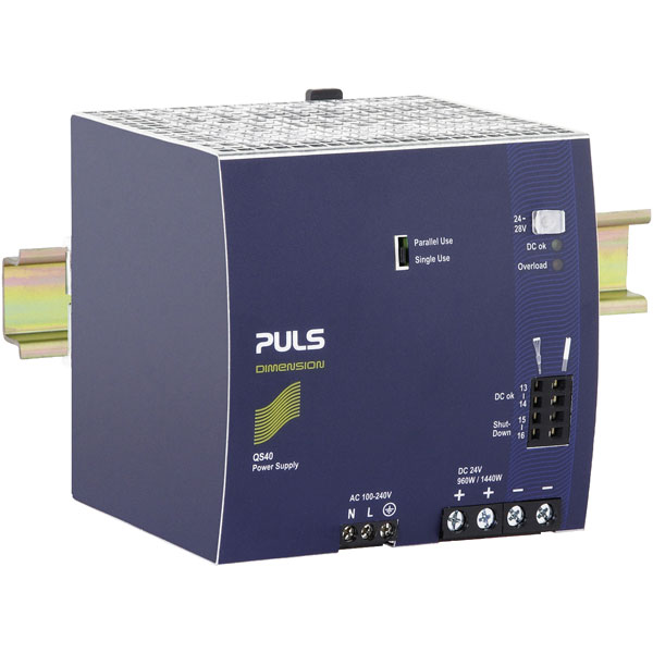 PULS QS40.241 DIN Rail Power Supply Single Phase 24VDC 40A 960W
